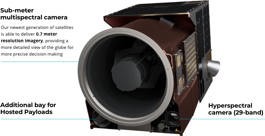 Our newest generation of satellites is able to deliver 0.7 meter resolution imagery, providing a more detailed view of the globe for more precise decision making